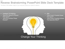 Reverse Brainstorming Powerpoint Slide Deck Template