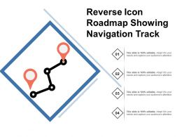 Reverse Icon Roadmap Showing Navigation Track