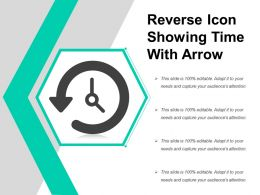 Reverse Icon Showing Time With Arrow