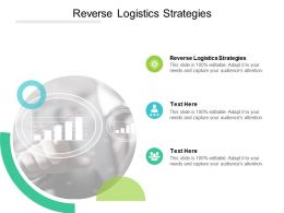 Reverse Logistics Strategies Ppt Powerpoint Presentation Slides Design Ideas Cpb