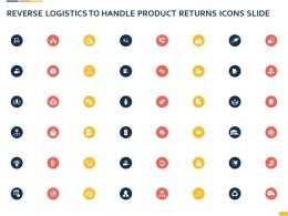 Reverse Logistics To Handle Product Returns Icons Slide Ppt Powerpoint Presentation Tips