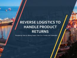 Reverse Logistics To Handle Product Returns Powerpoint Presentation Slides