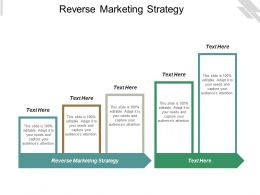 Reverse Marketing Strategy Ppt Powerpoint Presentation Icon Influencers Cpb