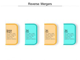 Reverse Mergers Ppt Powerpoint Presentation Layouts Topics Cpb