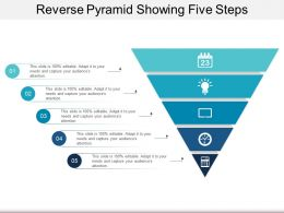 Reverse Pyramid Showing Five Steps