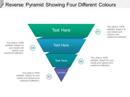 Reverse Pyramid Showing Four Different Colours