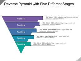 Reverse Pyramid With Five Different Stages