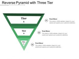 Reverse Pyramid With Three Tier