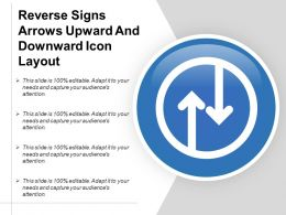 Reverse Signs Arrows Upward And Downward Icon Layout