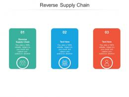 Reverse Supply Chain Ppt Powerpoint Presentation Slides Infographics Cpb