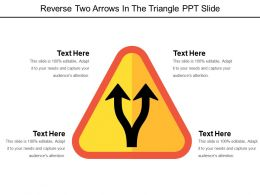 Reverse Two Arrows In The Triangle Ppt Slide
