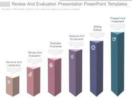 Review And Evaluation Presentation Powerpoint Templates
