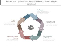 Review And Options Appraisal Powerpoint Slide Designs Download