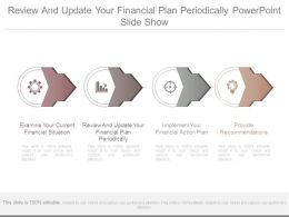 Review And Update Your Financial Plan Periodically Powerpoint Slide Show