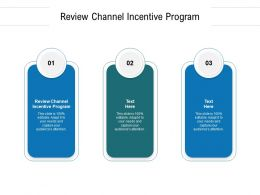 Review Channel Incentive Program Ppt Powerpoint Presentation Ideas Deck Cpb