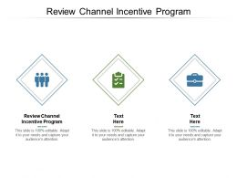 Review Channel Incentive Program Ppt Powerpoint Presentation Layouts Outfit Cpb