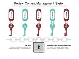 Review Content Management System Ppt Powerpoint Presentation Professional Slide Cpb