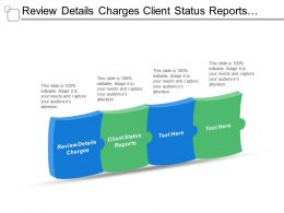 Review Details Charges Client Status Reports Traditional File Processing
