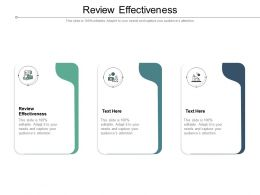 Review Effectiveness Ppt Powerpoint Presentation Icon Slide Cpb