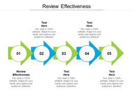 Review Effectiveness Ppt Powerpoint Presentation Pictures Display Cpb