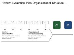 Review Evaluation Plan Organizational Structure Leadership Performance Control