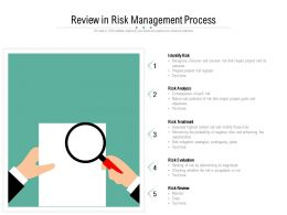 Review In Risk Management Process