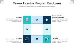 Review Incentive Program Employees Ppt Powerpoint Presentation Slides Themes Cpb