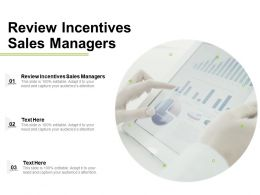 Review Incentives Sales Managers Ppt Powerpoint Presentation Layouts File Formats Cpb