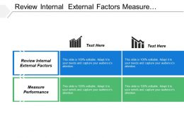 Review Internal External Factors Measure Performance Tenured Industry