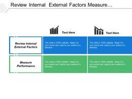 Review Internal External Factors Measure Performance Tenured Industry