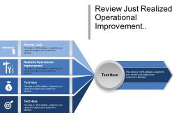 Review Just Realized Operational Improvement Getting Things Done