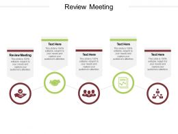 Review Meeting Ppt Powerpoint Presentation Ideas Design Templates Cpb