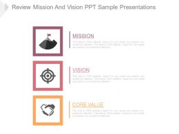 Review Mission And Vision Ppt Sample Presentations