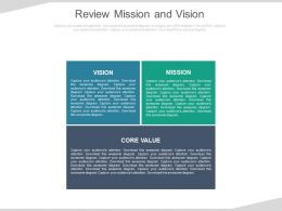Review Mission And Vision Ppt Slides