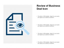 Review Of Business Deal Icon