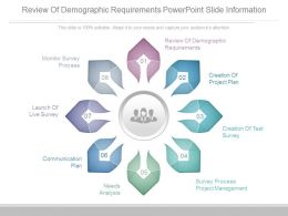 Review Of Demographic Requirements Powerpoint Slide Information
