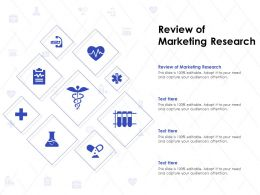 Review Of Marketing Research Ppt Powerpoint Presentation Portfolio Skills