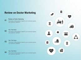 Review On Doctor Marketing Ppt Powerpoint Presentation Styles Outline