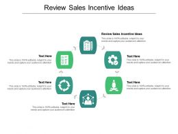 Review Sales Incentive Ideas Ppt Powerpoint Presentation Summary Pictures Cpb