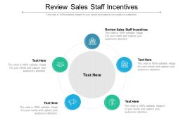 Review Sales Staff Incentives Ppt Powerpoint Presentation Summary Elements Cpb