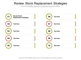 Review Stock Replacement Strategies Ppt Powerpoint Presentation Icon Professional Cpb