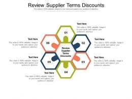 Review Supplier Terms Discounts Ppt Powerpoint Presentation Summary Graphics Example Cpb