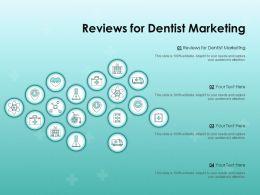 Reviews For Dentist Marketing Ppt Powerpoint Presentation Outline Sample
