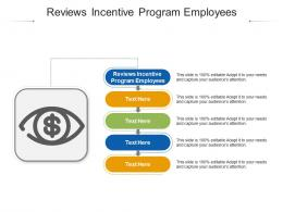Reviews Incentive Program Employees Ppt Powerpoint Presentation Summary Background Cpb