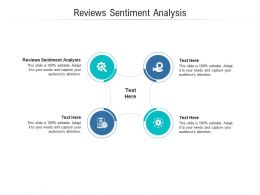 Reviews Sentiment Analysis Ppt Powerpoint Presentation Styles Shapes Cpb