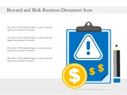 Reward And Risk Business Document Icon
