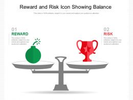 Reward And Risk Icon Showing Balance