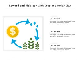 Reward And Risk Icon With Crop And Dollar Sign