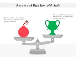 Reward And Risk Icon With Scale