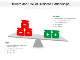 Reward And Risk Of Business Partnerships